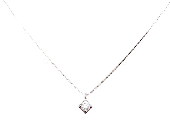 18ct White Gold 0.10ct Diamond Necklace