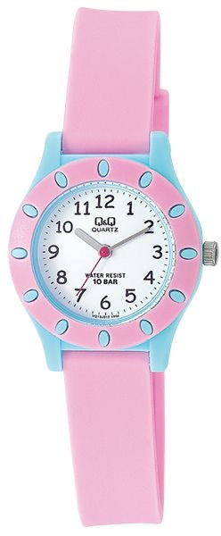 Q & Q Girls Baby Pink And Blue Silicone Strap Watch