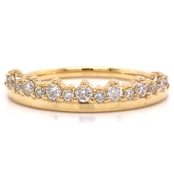 18ct Gold Crown Diamond Ring