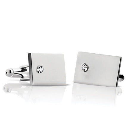 Newbridge Cufflinks With Clear Stone