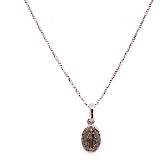 Sterling Silver Mini Miraculous Medal Pendant