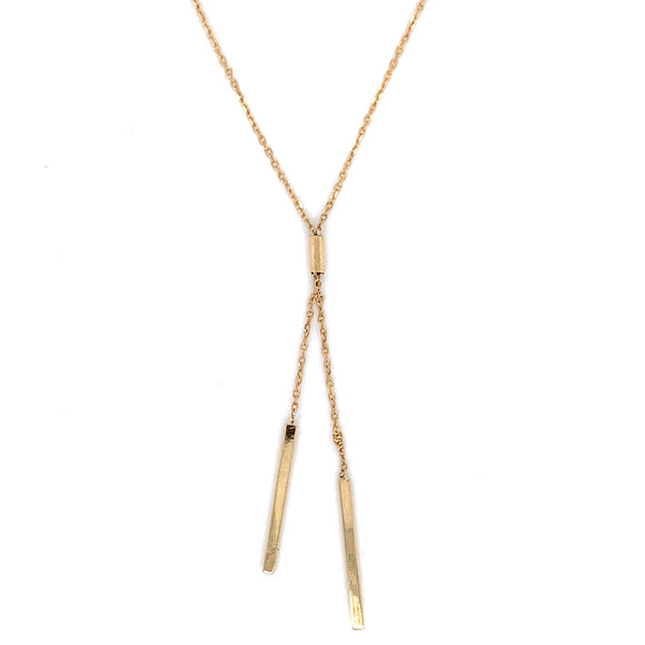9ct Gold Double Bar Necklace GA3895