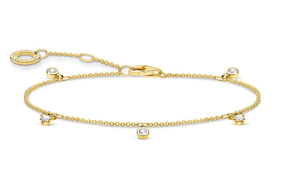 Thomas Sabo Gold Bracelet With Clear Stones