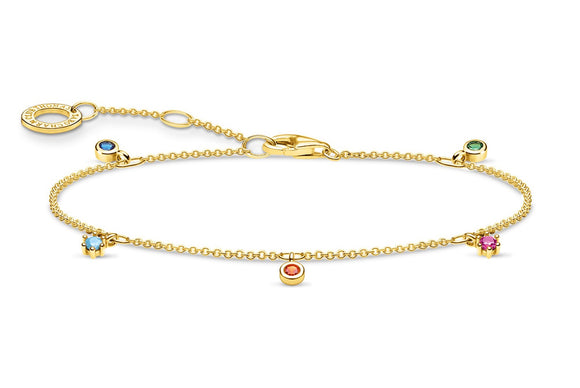 Thomas Sabo Gold Bracelet With Coloured Stones