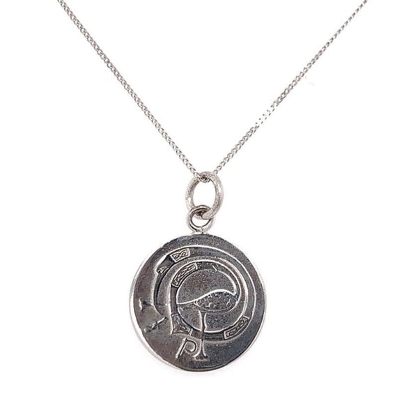 Tadgh Óg Sterling Silver Haypenny coin pendant