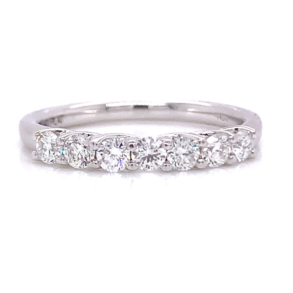 .50ct 7 Stone Eternity Ring Platinum