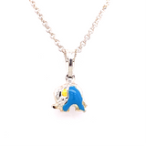 Sterling Silver Blue Elephant Pendant