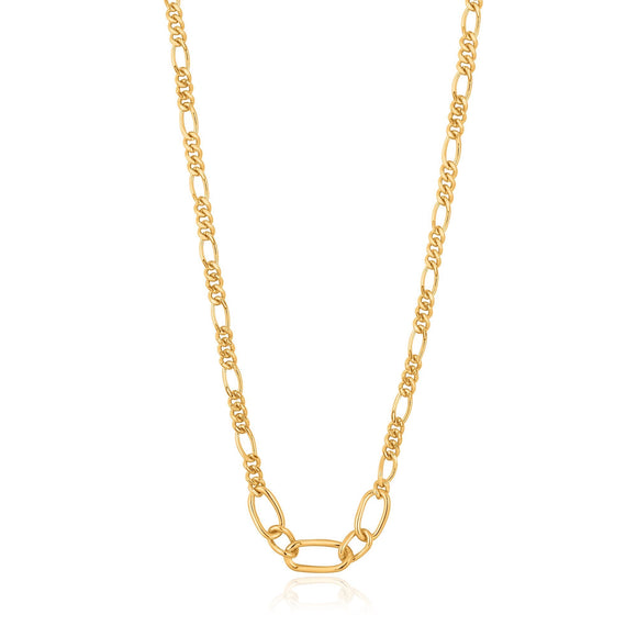 Ania Haie Chain Reaction Figaro Chain Necklace