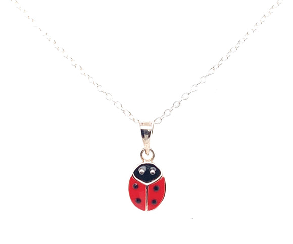 Sterling Silver Medium Ladybird Pendant