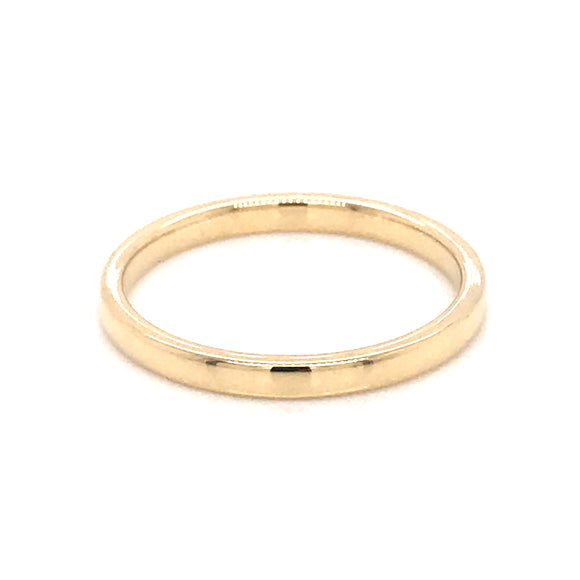 18ct Yellow Gold 2mm Band