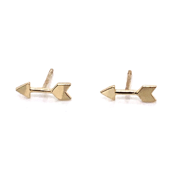 9ct Gold Arrow Studs