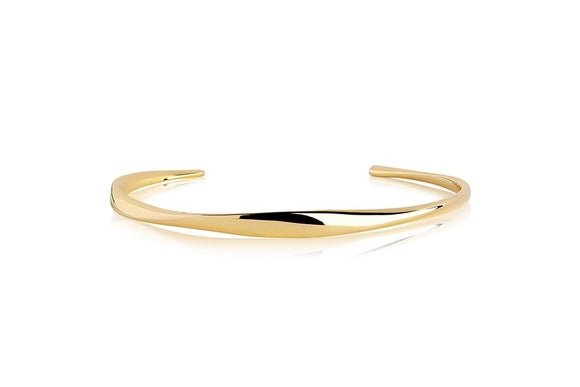 SIF JAKOBS BANGLE CETARA PIANURA - 18K GOLD PLATED BG3008-YG