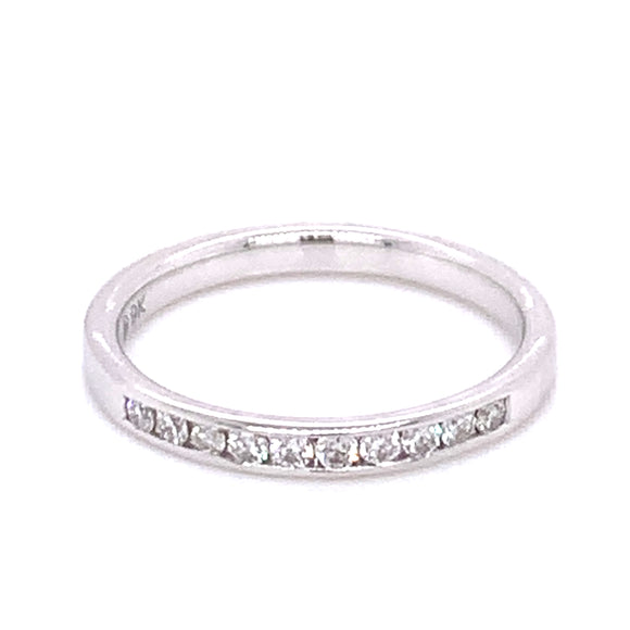 .15ct White Gold Chanel Set Diamond Band