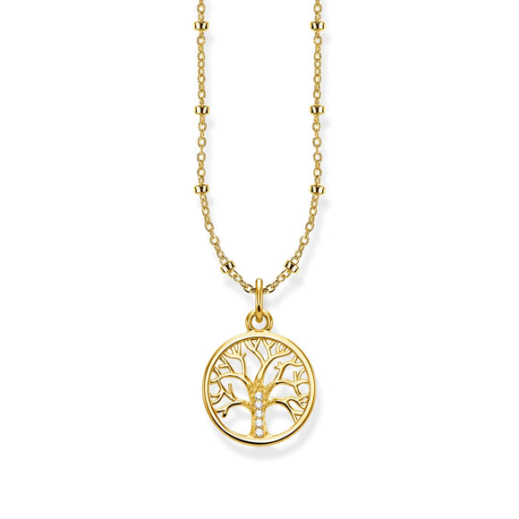 Thomas Sabo Tree of Life Gold Plated Necklace