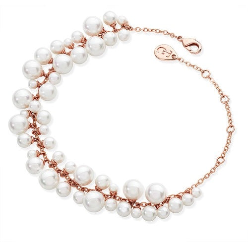 Tipperary Crystal Rose Pearl Grape Bracelet 118270