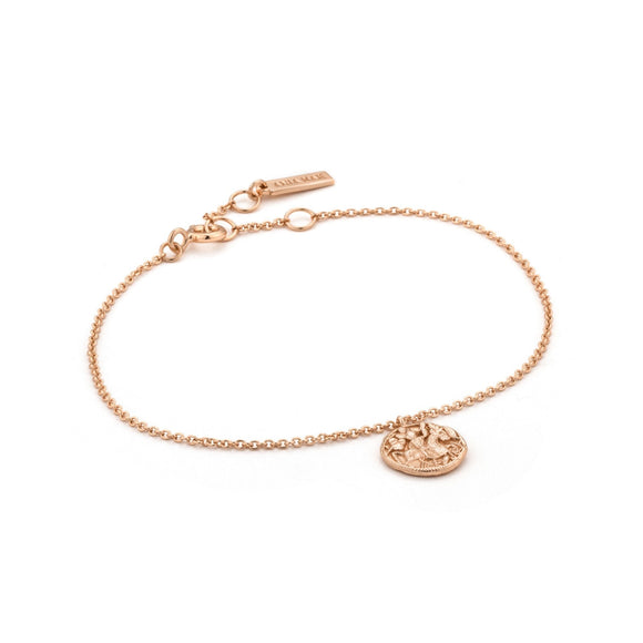 Ania Haie Coins Drop Medallion Bracelet Rose Gold