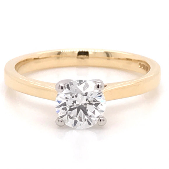 18ct Yellow Gold Diamond Solitaire Diamond Engagement Ring