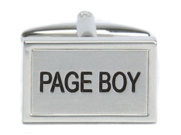 Page Boy Rhodium Plated Cufflinks 90-1467