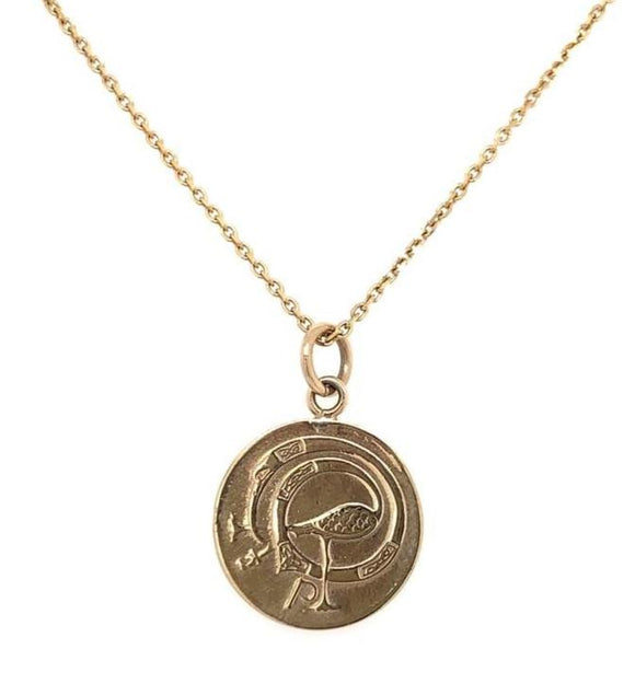 Tadgh Óg Solid 9ct Gold Haypenny Irish Coin Pendant