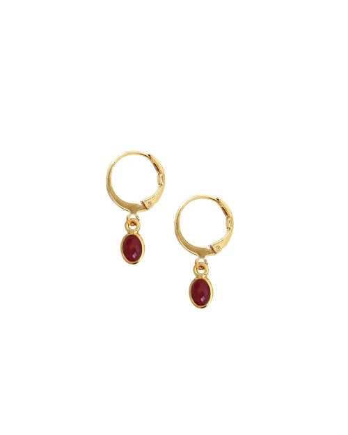 Nilaï Boucles D'oreilles Gaia Red Agate Earrings