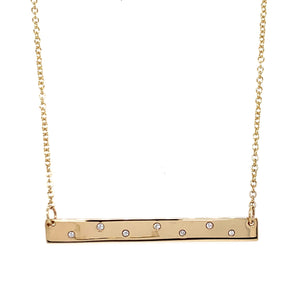 Tadgh ÓgBar 9ct Gold with Diamonds Dancing Necklace