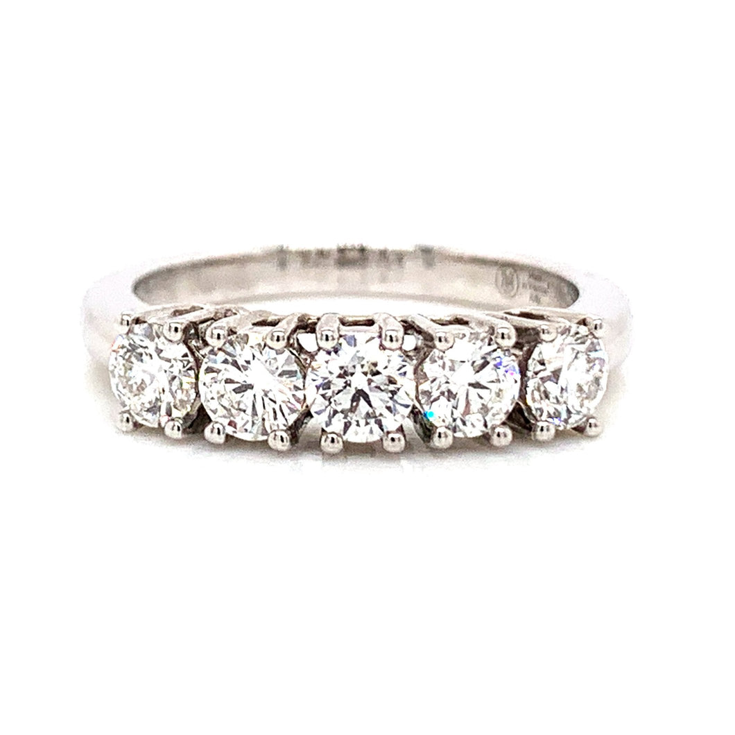18ct White Gold 5 Stone Eternity Ring