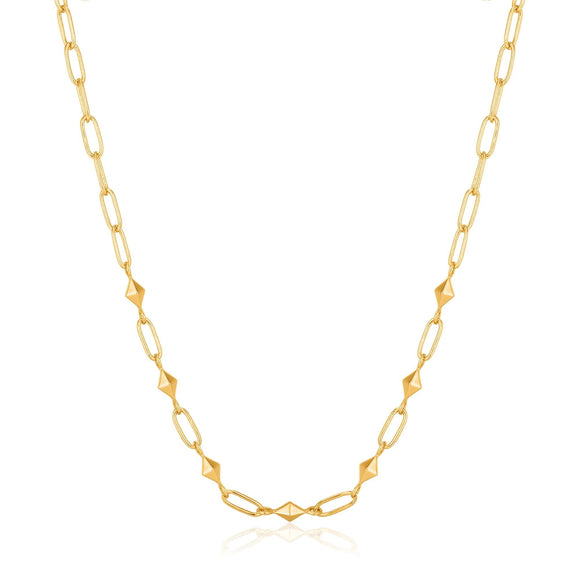 Ania Haie Spike It Up Gold Heavy Spike Necklace