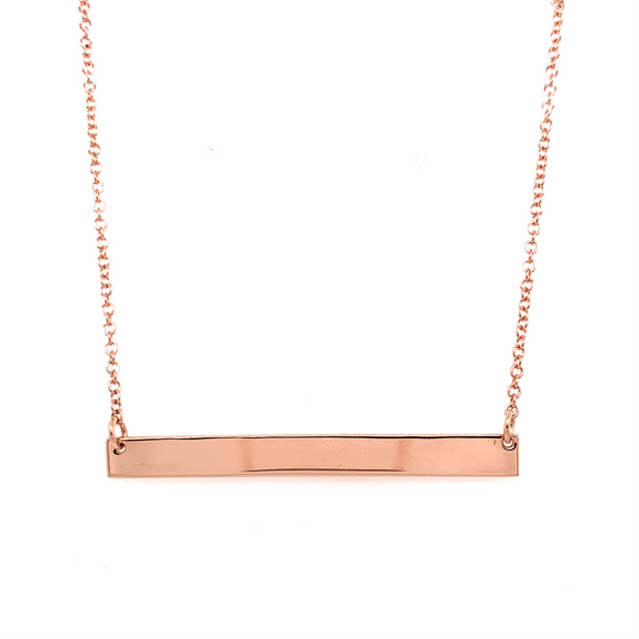 Tadgh Óg 9ct Rose Gold Balance Bar