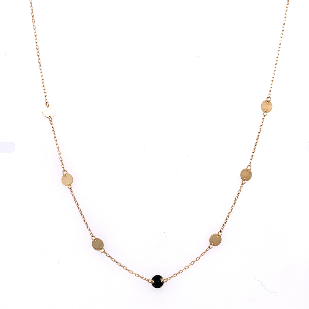 Tiny Disk 9ct Gold Necklace