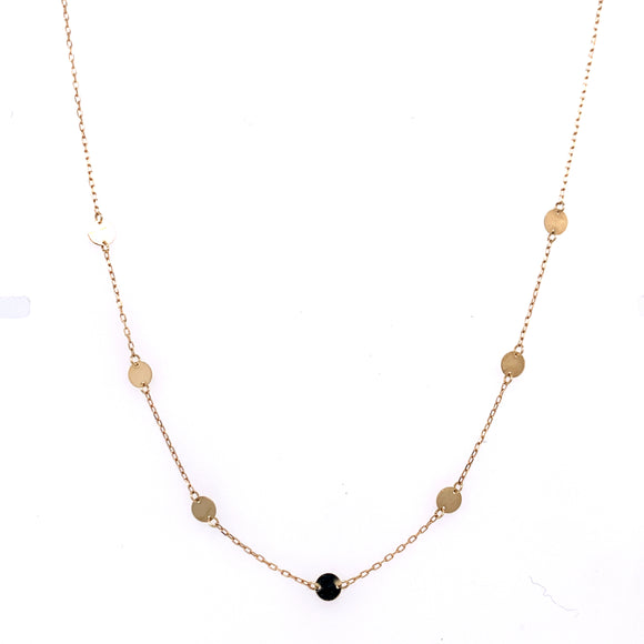 Tiny Disc 9ct Gold Necklace