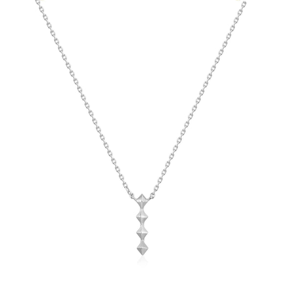 Ania Haie Spike It Up Silver Spike Drop Necklace