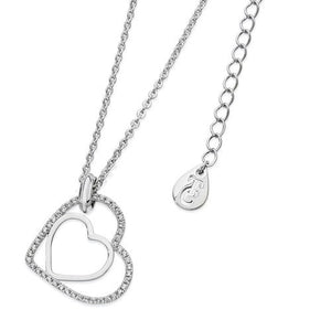 Tipperary Crystal Silver Floating Heart Pendant 109766