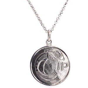 Tadgh Óg Solid Sterling Silver 1p Irish Coin Pendant