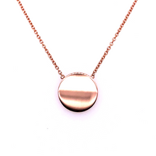 Load image into Gallery viewer, 9ct Rose Gold Mini Disc Pendant