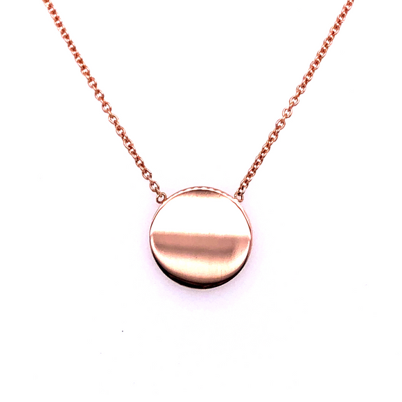 9ct Rose Gold Mini Disc Pendant
