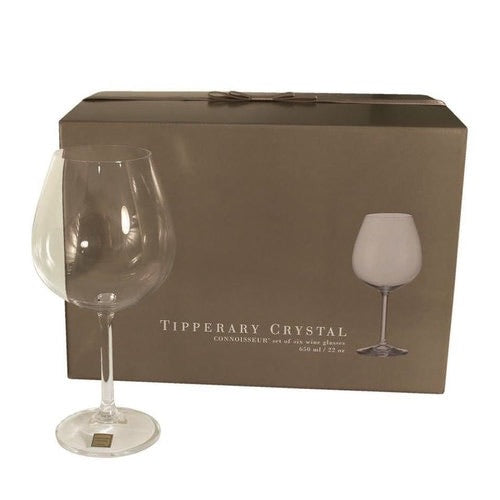 Tipperary Crystal Connoisseur Set of 6 Red Wine Glasses 650ml
