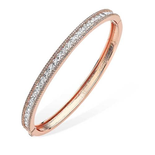 Tipperary Crystal CZ Encrusted Bangle Rose Gold