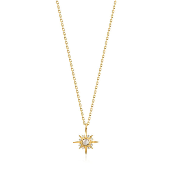 Ania Haie Midnight Fever Gold Star Necklace