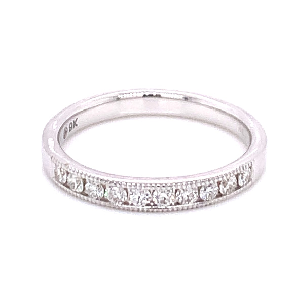 .25ct Pave Set White Gold Diamond Band