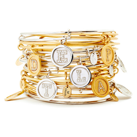 Chrysalis Gold Plated Initial Expandable Bangle