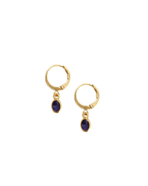 Nilaï Boucel D'oreilles Gaia Sapphire Quartz Earrings