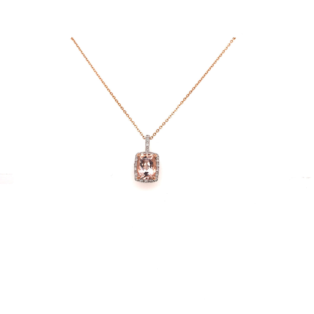 9ct Rose Gold and Morganite