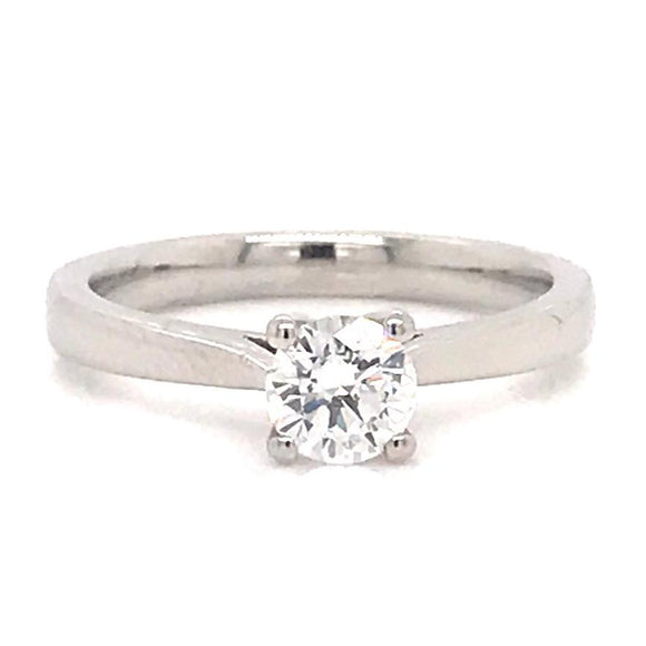 Platinum Four Claw Solitaire Engagement Ring