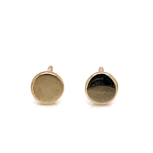 Dainty Disk 9ct Gold Earrings