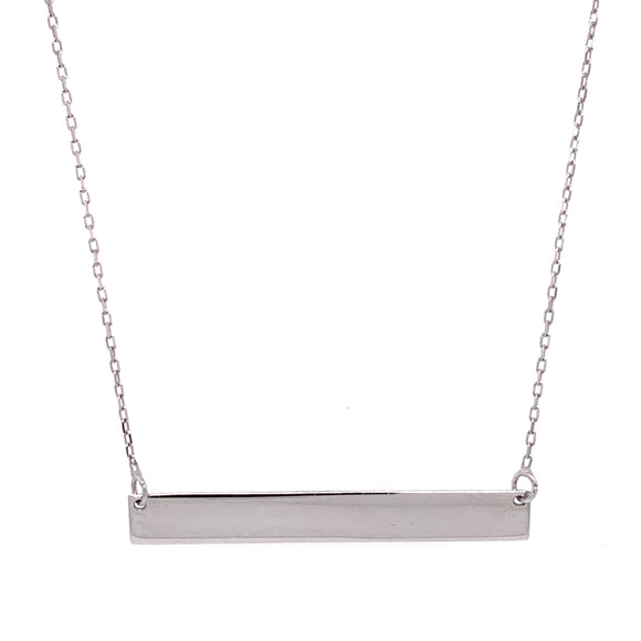 White Gold Engravable Bar