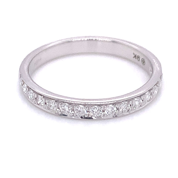 .25ct Pave set Diamond Band