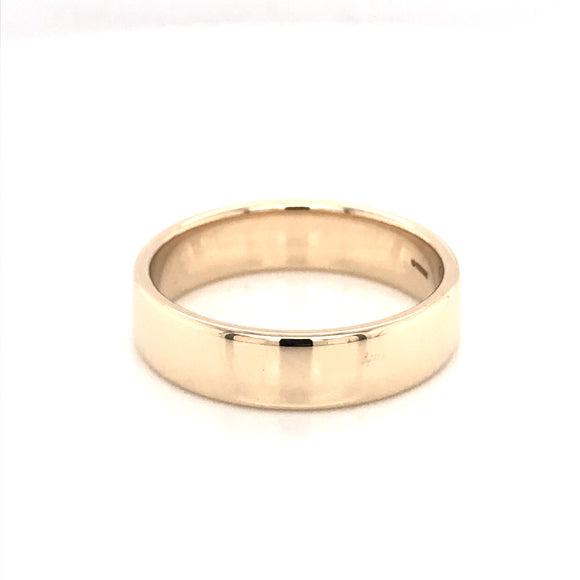 9ct Yellow Gold 6mm Band