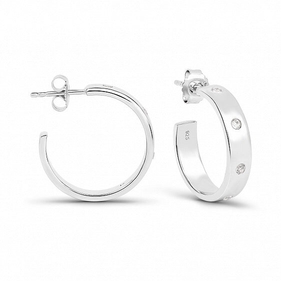 Lav'z Initials Earrings with White Topaz enea20wtss