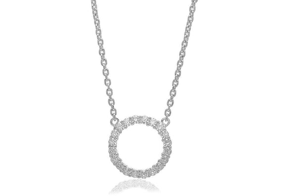 SIF JAKOBS NECKLACE BIELLA GRANDE WITH WHITE ZIRCONIA SJ-C338(1)-CZ