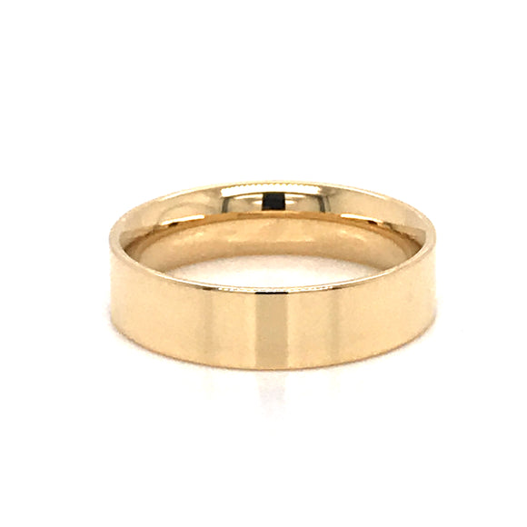 18ct Yellow Gold 6mm Band